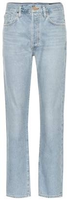 Gold Sign The Benefit high-rise straight jeans