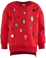 Molo Red Jewelled Margith Sweatshirt