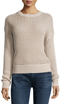 Current/Elliott The Zigzag Open-Knit Sweater, Oatmeal