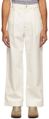 Marni White Canvas Trousers