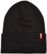 Levi's Levis Slouchy Red Tab Beanie Hat Black