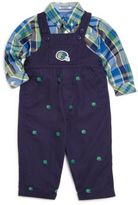 Hartstrings Baby Boy's Embroidered Cotton Twill Overalls