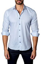 Jared Lang Woven Striped Button-Down Sportshirt