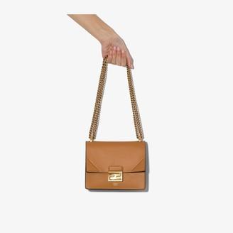 Fendi brown Kan U small leather shoulder bag