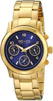 SO & CO New York Women's 5012.3 Madison Gold-Tone Stainless Steel Watch with Link Bracelet