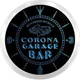 AdvPro Clock ncpp2209-b CORONA Garage Car Repairs Rule Beer Bar LED Neon Sign Wall Clock