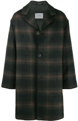 Lanvin Mid-Length Check Coat