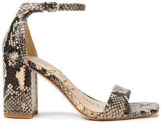 Sam Edelman Daniella Snake-effect Leather Sandals