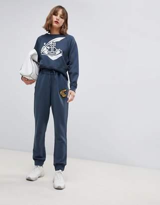 Vivienne Westwood logo trackpants-Grey