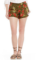 KUT from the Kloth Zaria Floral Print Pull-On Shorts
