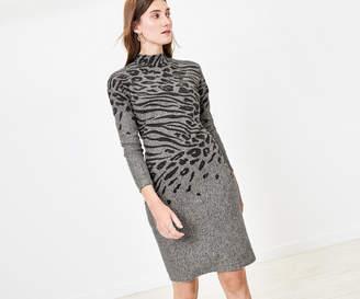 Oasis Cosy Animal Bodycon Dress