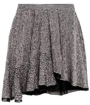 Isabel Marant Babylon Asymmetric Sequined Chiffon Mini Skirt