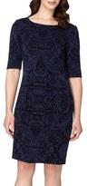 Tahari Petite Women's Flocked Sheath Dress