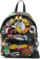 Moschino patch embellished backpack