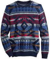 American Rag Men's Blanket Stripe Geo-Print Sweater, Only at Macy's