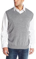 Cutter & Buck Men's Big and Tall Douglas V-Neck Sweater Vest