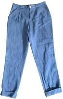 A.P.C. Blue Cotton Trousers