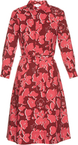 Oscar de la Renta Graphic floral-print stretch-cotton shirtdress