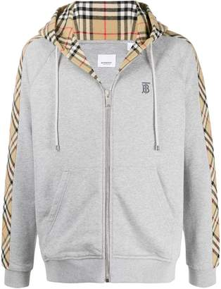 Burberry Vintage Check details zipped hoodie