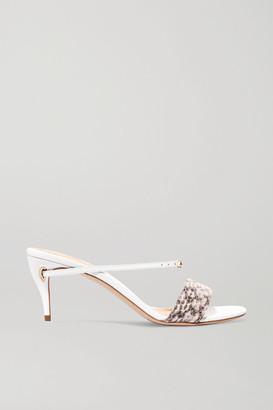 Jennifer Chamandi Andrea 65 Elaphe And Leather Sandals - Snake print