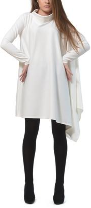 LADA LUCCI Women's Casual Dresses Milky - Milky Cowl Neck Asymmetrical-Hem Tunic - Women & Plus