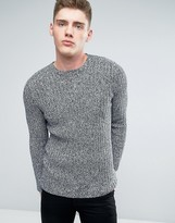Lindbergh Sweater In Blue Rib Knit