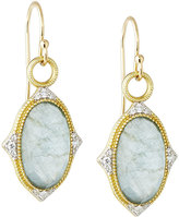 Jude Frances 18K Moroccan LargeTurquoise & Diamond Drop Earrings