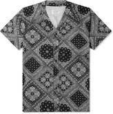 Shades of Grey by Micah Cohen Black Bandana Baseball Shirt