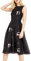 Oasis Summer Bloom Embroidered Dress, Multi/Black