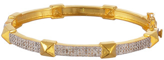 Forever Creations Usa Inc. Forever Creations Gold Over Silver 1.20 Ct. Tw. Diamond Bangle