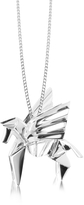 Nuovegioie Origami Sterling Silver Pegasus Pendant Long Necklace