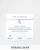 Dogeared Sterling Silver Life Is Magical Silver Unicorn Make A Wish Necklace