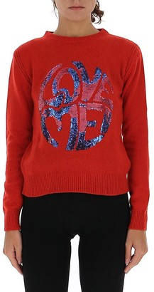 Alberta Ferretti Love Me Sequin Embellished Sweater