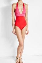 Heidi Klum Two Tone Swimsuit
