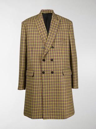Balenciaga Check Double-Breasted Coat