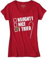 Classic Teaze Naughty Humor Christmas Funny Shirts Gift Ideas Cool Quote Junior V-Neck Tee
