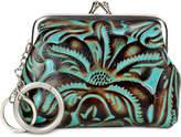Patricia Nash Turquoise Tooled Borse Key Fob Coin Purse
