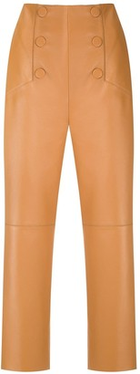 Nk Cropped Leather Trousers