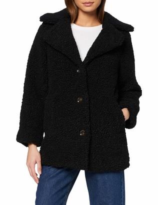 Miss Selfridge Women's Long Teddy Coat Faux Fur
