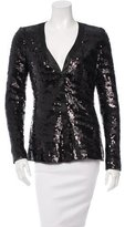 Rachel Zoe Long Sleeve Sequin Top