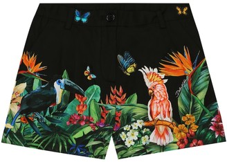 Dolce & Gabbana Kids Printed cotton shorts