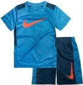 Nike Boys 4-7 Legacy Swoosh Abstract Top & Shorts Set