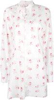 Loewe roses print asymmetric shirt - women - Cotton - 34