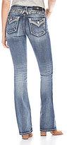 Miss Me Angel Wing Back Yolk Flap-Pocket Bootcut Jeans