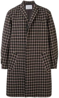 Kolor Houndstooth Single Breasted Coat