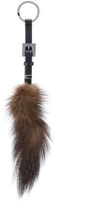 Fendi fox fur keyring
