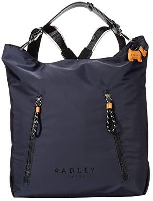 Radley London Crofters Way - Large Zip Top Hobo (Ink) Hobo Handbags