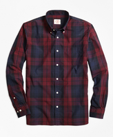 Brooks Brothers Tartan Broadcloth Sport Shirt