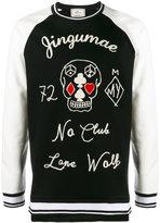 Miharayasuhiro No Club embroidered sweatshirt - men - Cotton - 48