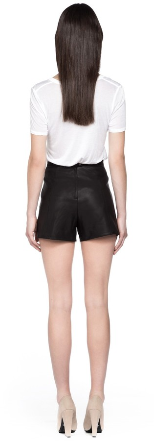 Mackage Roma Black Leather Shorts